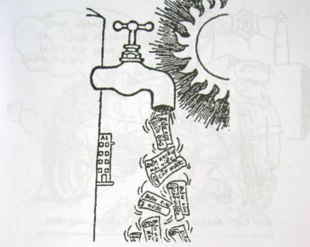 Không có nước nhưng có rất nhiều đơn khiếu nại về mất nước! (Báo Văn nghệ 24/12/1983)