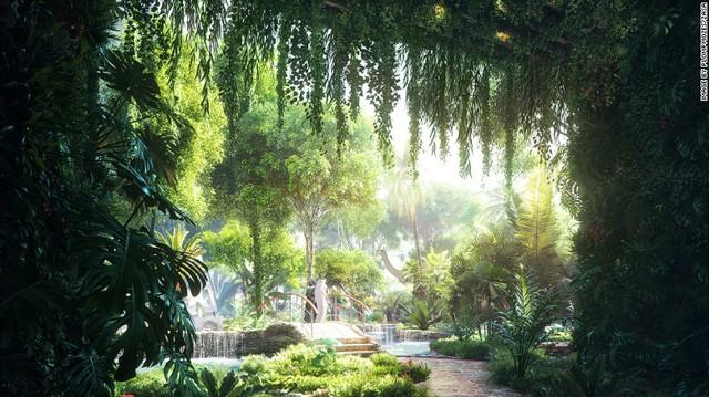 Tuy nhiên, điểm nhấn thực sự của công trình này không nằm ở thiết kế hay độ sang trọng. Rosemont trở thành công trình đầu tiên ở Dubai sở hữu khu rừng nhiệt đới công nghệ cao. Trong bối cảnh Dubai nắng gió và đầy cát, khu rừng là điểm nhấn táo bạo của công trình.
