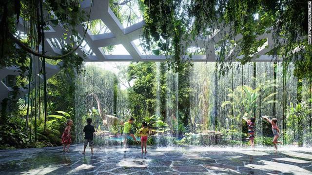 Công trình này còn sở hữu hệ thống tạo mưa nhân tạo trong khi hệ thống chuyên biệt tạo ra độ ẩm cao giống trong các khu rừng nhiệt đới. Cây cối bên trong khu rừng nhân tạo cũng mang đặc thù của các loài cây nhiệt đới, điều rất xa lạ với người dân Dubai.