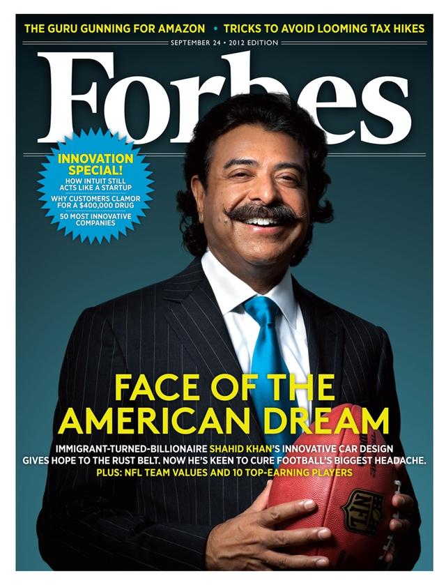 Tỷ phú xuất hiện trên trang bìa Forbes.