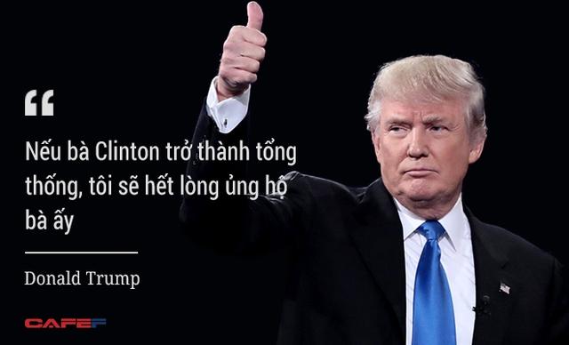 Ông Trump nhấn mạnh khi đề cập tới việc bà Clinton không đủ sức khỏe để cáng đáng công việc tổng thống Mỹ.