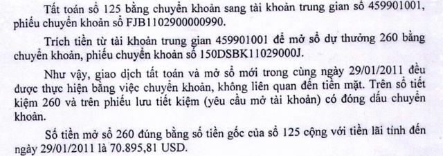Phía ngân hàng Việt Á đưa ra các giao dịch.