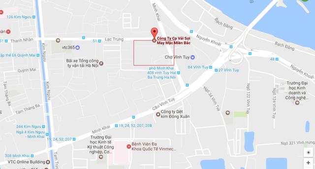 Vị trí khu đất 79 Lạc Trung của TET nằm ngay cạnh khu đô thị Times City của Vingroup