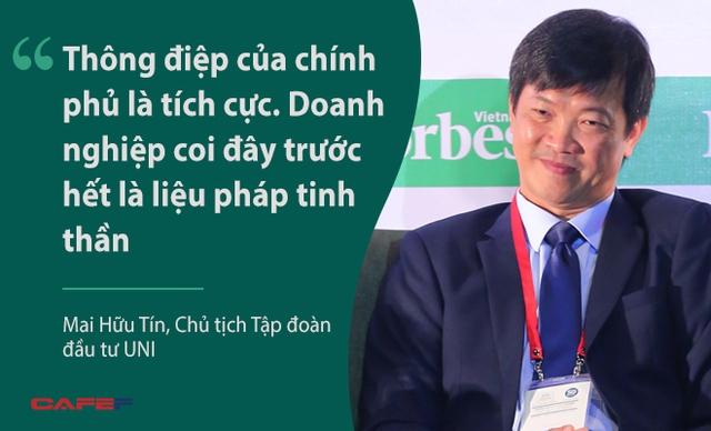 Ông Mai Hữu Tín, Chủ tịch Tập đoàn đầu tư UNI, đề cập tới những chính sách về kinh tế mà chính phủ đưa ra nhưng đặt dấu hỏi lớn về hành động của chính phủ và lo lắng về những tiến bộ đạt được chưa thể xoay chuyển tình hình ở Việt Nam trong bối cảnh hiện nay.