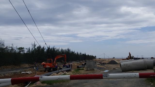 Một góc dự án đang được triển khai xây dựng.
