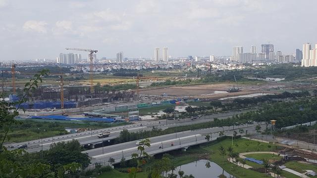Cận cảnh thi công khu công viên sinh thái - một Singapore thu nhỏ trong lòng Thủ Thiêm.
