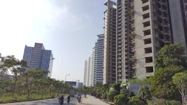 Tuyến đường Nguyễn Hữu Thọ dẫn vào khu đô thị cảng Hiệp Phước đang bùng nổ dự án nhà ở