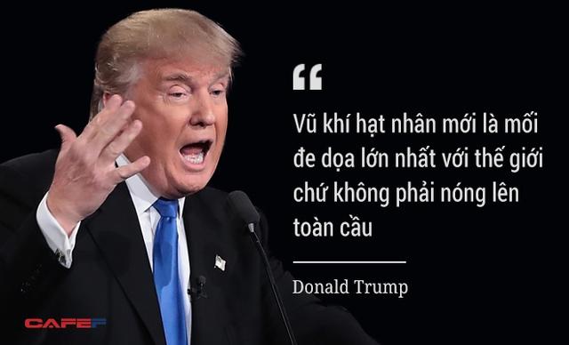 Ông Trump nêu quan điểm về thực trạng vũ khí hạt nhân đang tồn tại trên thế giới cũng như chương trình hạt nhân gây tranh cãi của nhiều quốc gia, trong đó có Iran và Triều Tiên.