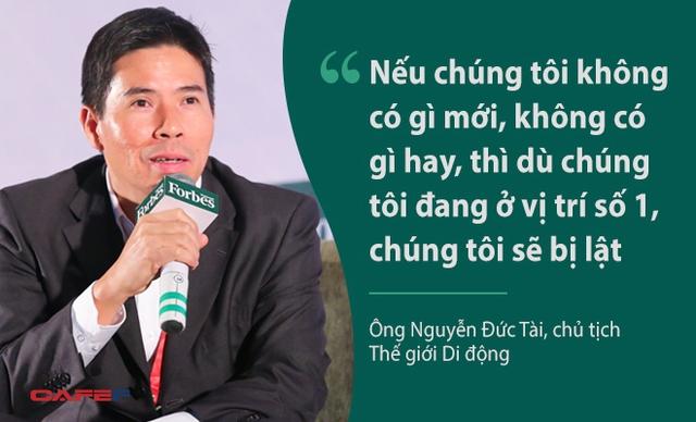 Ông Nguyễn Đức Tài, chủ tịch Thế giới di động nhấn mạnh tầm quan trọng của sáng tạo với sự phát triển của doanh nghiệp. Bên cạnh đó, ông Tài cũng thừa nhận sự sao chép các mô hình của nước ngoài cho các hoạt động kinh doanh của Thế giới di động khi nó chưa có ở Việt Nam.