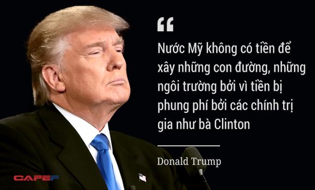 Ông Trump chỉ trích đối thủ.