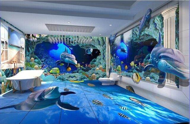 Cả thế giới biển bỗng thu gọn trong căn phòng nhỏ.