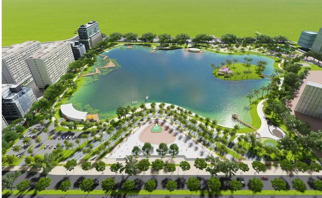'Công viên hồ điều hòa Phùng Khoang sẽ là tiền đề thuận lợi cho các dự án chung cư cao cấp trong khu vực đang được khởi động vào thời gian tới, tạo nên cảnh quan đồng nhất, không gian sống hài hòa hiện đại theo tiêu chuẩn xanh.'