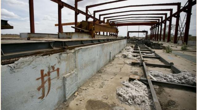 Dự án đường sắt bị bỏ hoang.