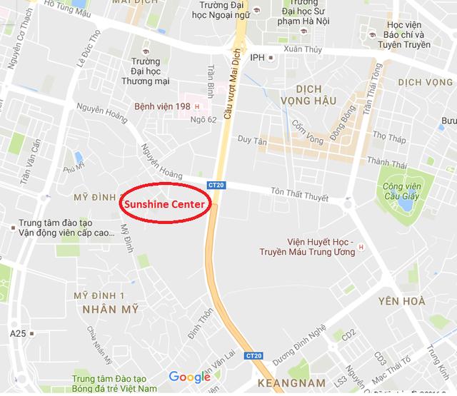 Sunshine Center tọa lạc ngay trên trục Phạm Hùng.