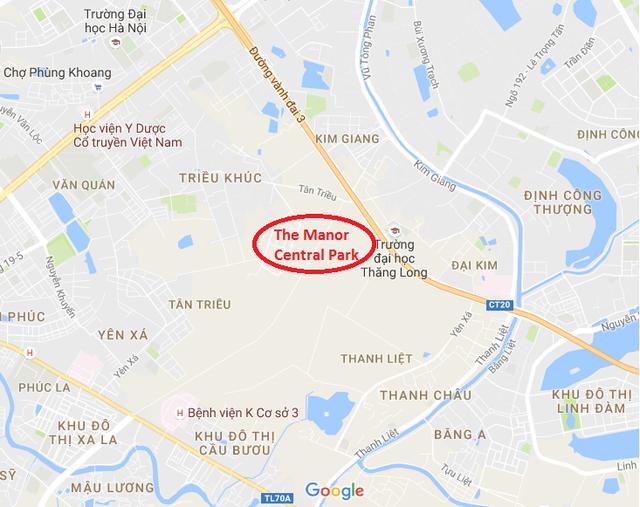Công trình nằm sát trục Nguyễn Xiển - Vành đai 3.