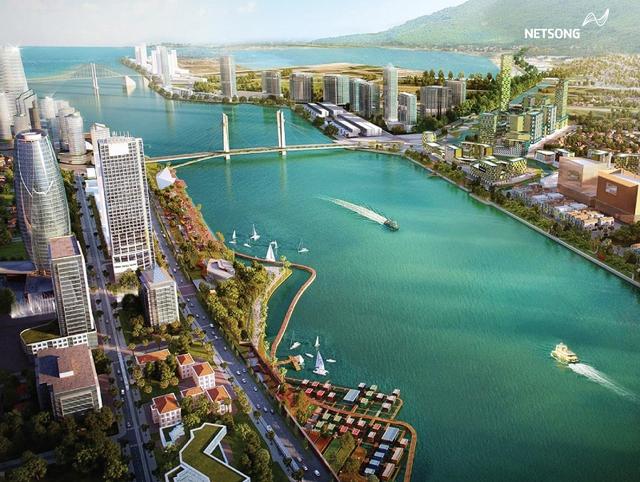 Hình ảnh bờ sông Hàn được phác thảo trong tương lai