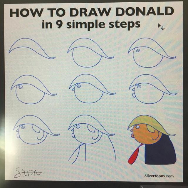 Cách vẽ Donald qua 9 bước.