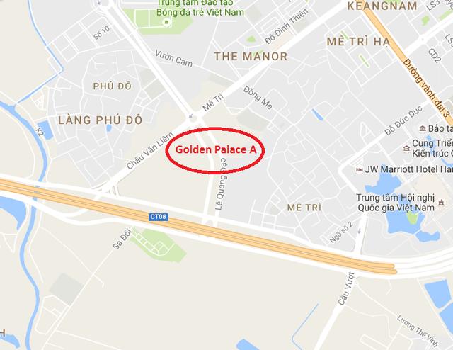 Dự án tọa lạc tại vị trí vàng phía Tây Hà Nội.