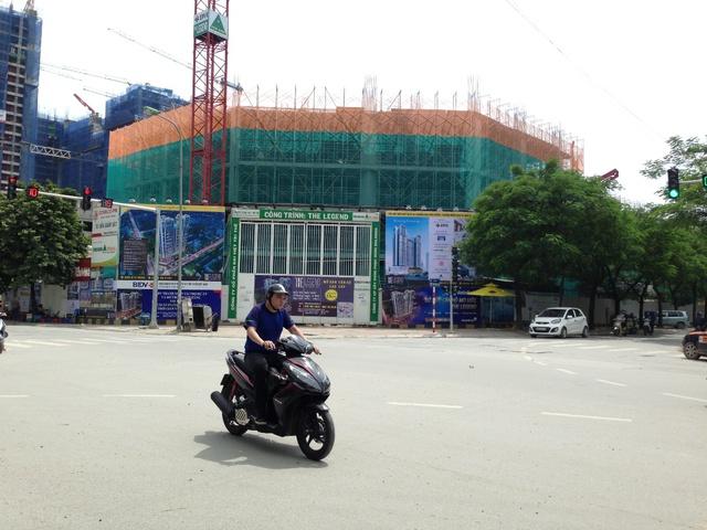 Toàn cảnh dự án nhìn từ phía mặt đường Nguyễn Tuân.