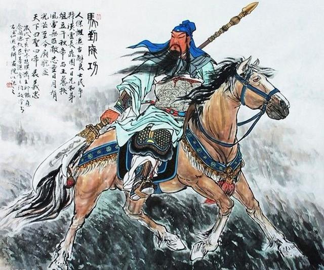 Quan Vân Trường cầm Thanh Long đao, cưỡi ngựa Xích Thố. Ảnh minh họa.