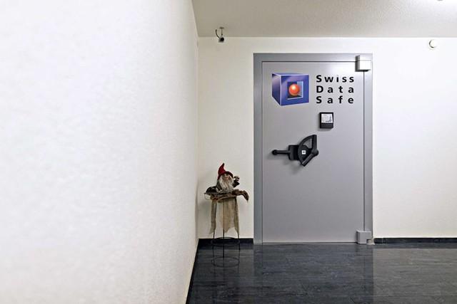 Kho chứa vàng của Swiss Data Safe. Ảnh: Bloomberg.