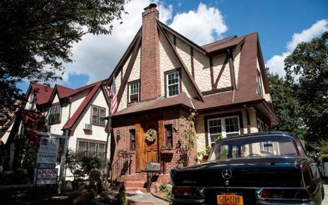 Ngôi nhà nơi ông Donald Trump từng sống lúc nhỏ ở khu Queens, New York. Ảnh: Getty.