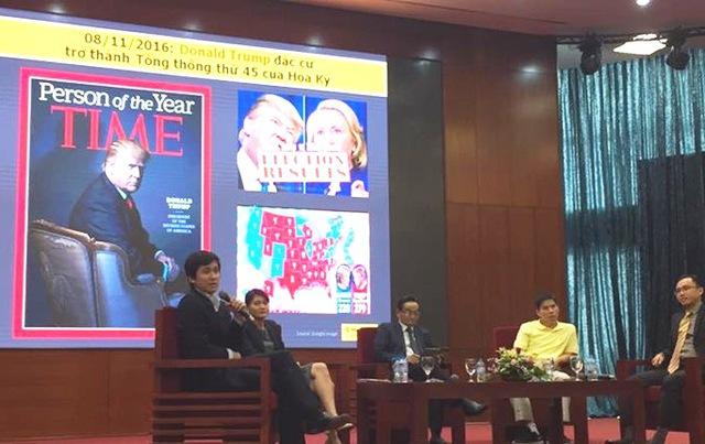 TS Lê Anh Tuấn, Kinh tế trưởng Dragon Capital (ngoài cùng bên trái)