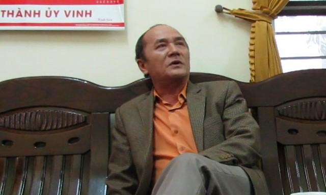 Ông Đỗ Đình Thông - Đội phó Đội quản lí trật tự đô thị TP Vinh
