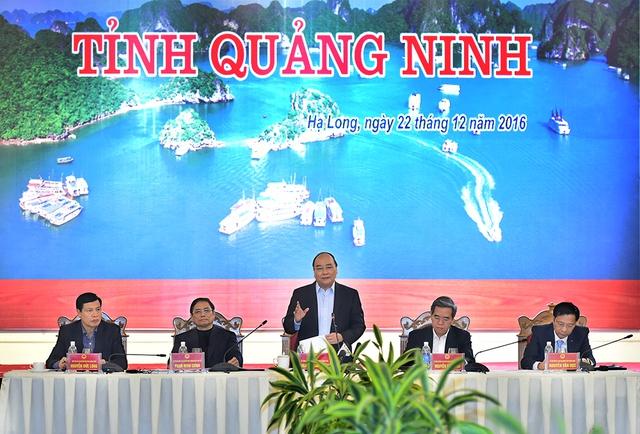 Quảng Ninh phải trở thành trung tâm kinh tế động lực của Bắc Bộ và cả nước, trung tâm giao lưu quốc tế, điểm đến cho nhà đầu tư, du khách. Ảnh VGP/Quang Hiếu