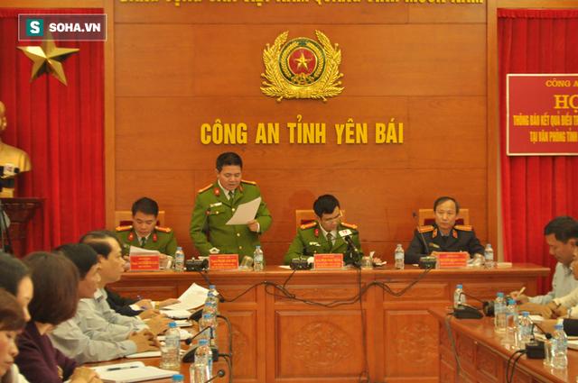 Công an tỉnh Yên Bái tổ chức họp báo vụ án.