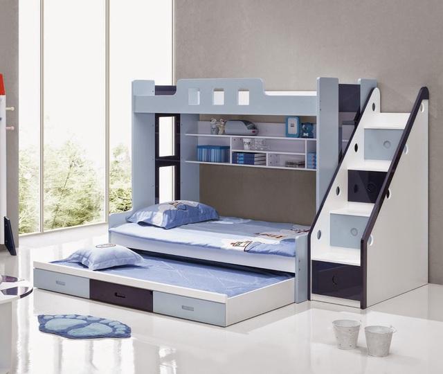 Chiếc giường này là một gợi ý đáng để tham khảo cho những gia đình có con nhỏ.
