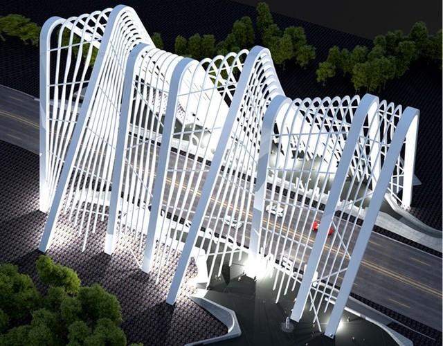 Hình ảnh mô phỏng cổng chào tỉnh Quảng Ninh sau khi hoàn thành.