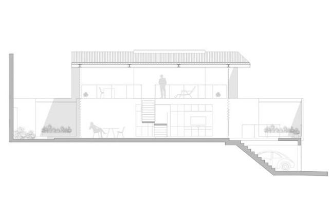 Đây là mô hình thiết kế và bố trí khu vực chức năng của ngôi nhà.