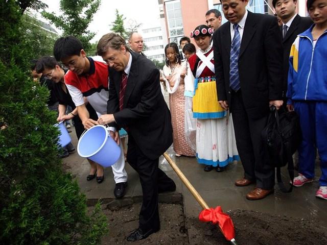 Bill Gates từng tiết lộ ông rất thích cây gỗ lá đỏ ở gần khu vực nhà lái xe. Cây gỗ này được Bill Gates đưa vào diện chăm sóc đặc biệt. Nó được theo dõi 24/24 bằng một hệ thống máy tính để đảm bảo cung cấp đủ nước, tránh tính trạng khô héo.