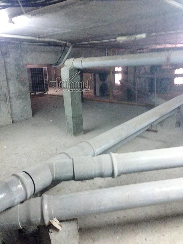 Trong hầm kĩ thuật có nhiều thiết bị đường ống nước, dây diện có thể bị giảm tuổi thọ hoặc chập cháy bởi nhiệt lượng tỏa ra từ dàn nóng