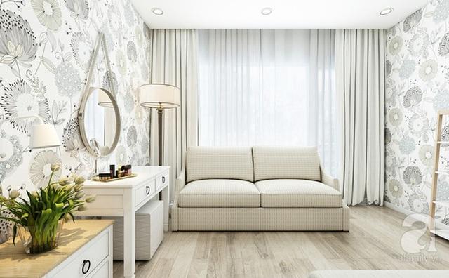 Sofa bed vừa làm nơi thư giãn vừa có thể tiếp bạn bè thân thiết.
