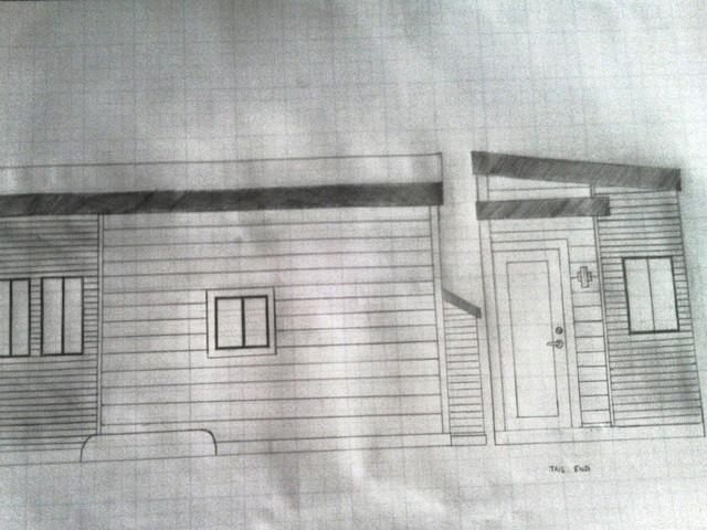 Mô hình phác thảo trước khi xây nhà của Joel.