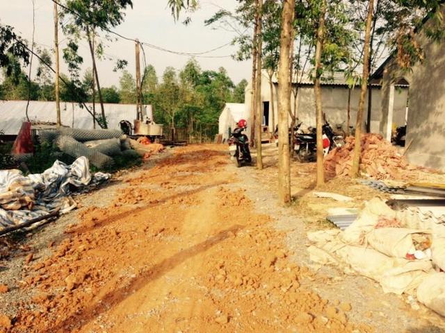 Nhiều hạng mục công trình được hộ ông Tuân xây dựng và gần đi vào hoàn thiện.