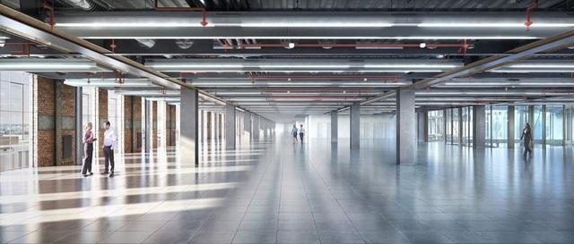 Gần 50.000 mét vuông diện tích, trải ra trong 6 tầng, sẽ có thiết kế kiểu công nghiệp.