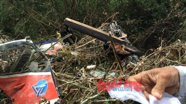 Hiện trường máy bay rơi - Ảnh: CTV