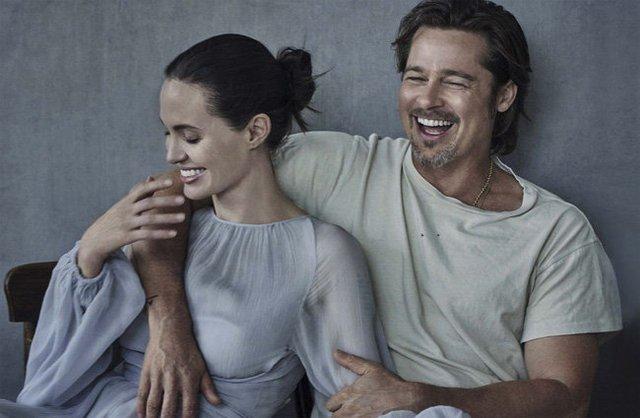 Brad Pitt và Angeline Jolie ly hôn khiến khán giả ái mộ tiếc nuối cho một chuyện tình Hollywood - Ảnh: Vanity Fair