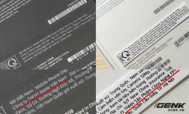 Trong khi hàng VN/A (cũng do FPT Trading nhập khẩu) có đơn vị nhập khẩu là Công ty TNHH Apple Việt Nam, thì chiếc máy ZP/A chính hãng FPT này lại là Công ty TNHH Sản Phẩm Công Nghệ FPT