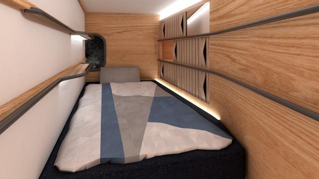 Những chiếc giường sẽ được sử dụng như ghế/đệm an toàn khi cất cánh và hạ cánh (với những thiết bị cố định vị trí).