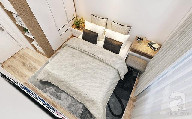 Phòng ngủ nhìn từ trên cao.