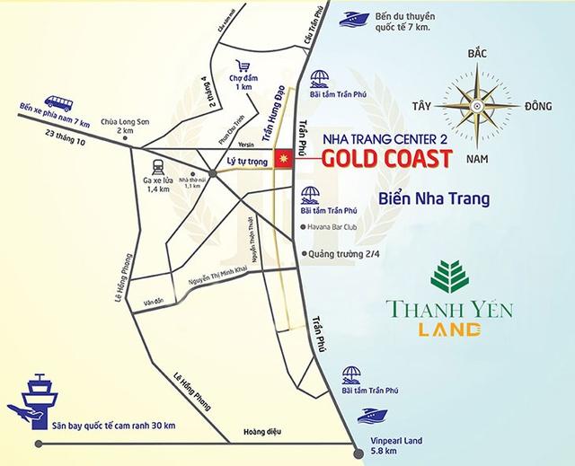 Dự án tọa lạc ngay trên trục đường Trần Phú.