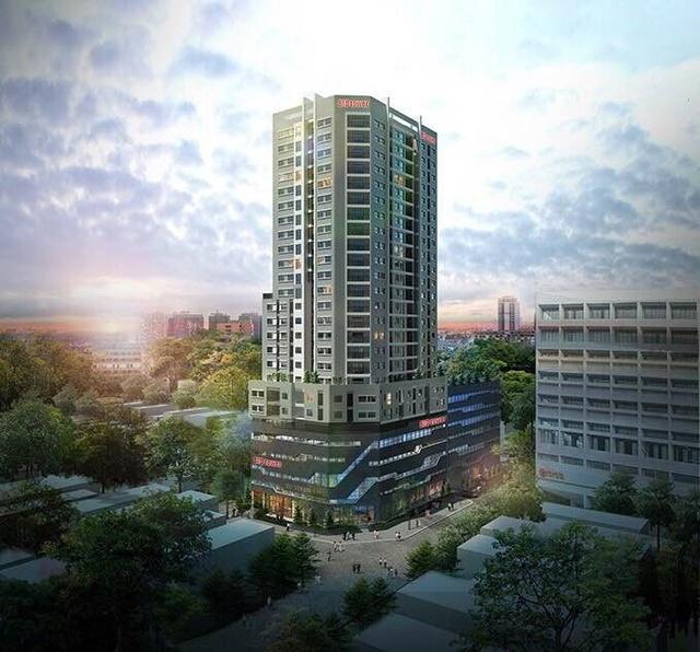 Phối cảnh Dự án Khu phức hợp Khách sạn, trung tâm thương mại tại số 317 Trường Chinh sau khi hoàn thành.