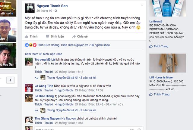 Ông Nguyễn Thanh Sơn còn làm CEO T&A Ogilvy hay không?