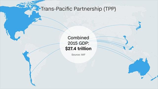 Dù đã hoàn tất tiến trình đàm phán nhưng TPP sẽ gặp trở ngại lớn với chính quyền mới của Mỹ. Ảnh: CNN
