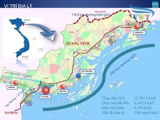 Quảng Ninh có vị trí thuận lợi phát triển ngành du lịch.