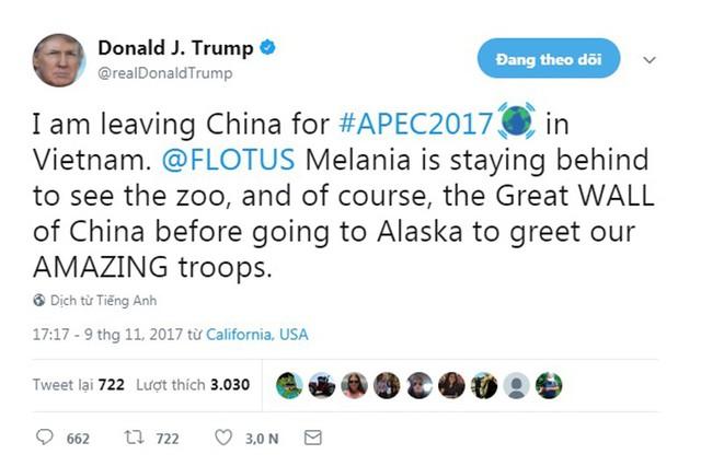 Tổng thống Trump hồ hởi lên mạng xã hội khoe sắp tới Việt Nam dự APEC - Ảnh 1.